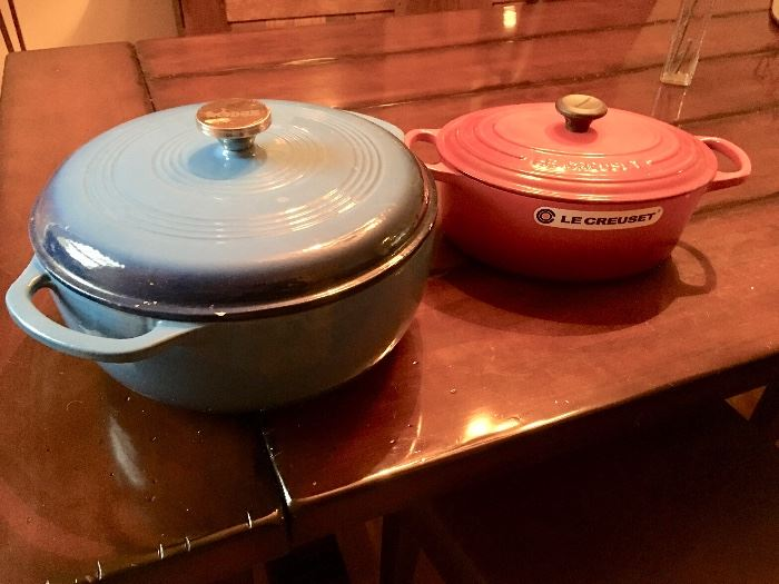 Lodge and Le Creuset