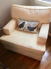 Custom upholstered arm chair (yellow) (1 of 1)