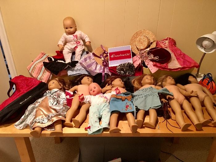 American Girl dolls and accessories