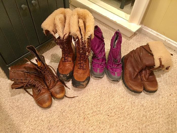 Snow boots, a few Uggs