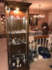 Furniture and amazing collection of Swarovski crystal figurines with boxes
