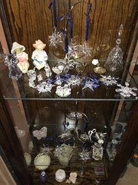 Swarovski crystal figurines and Swarovski  ornaments,plus more