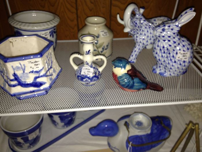 More blue & white selections