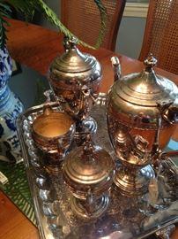 Silver plate coffee service
