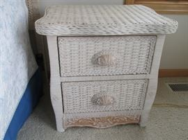 Pair of wicker night stands,