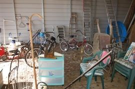 Bicycles, chairs, home care equipment