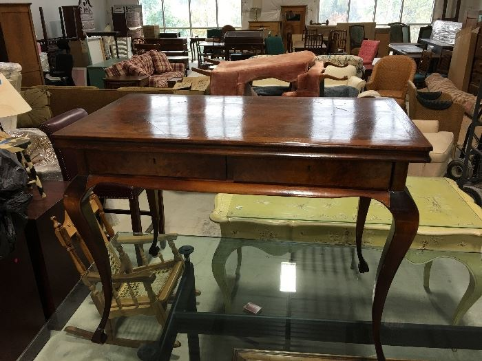 """Antique desk with two drawers  28""""x21""""x37.5"""""""