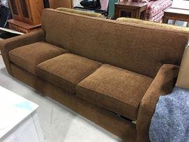 "Brown chenille sleeper sofa 86""x40""deep"