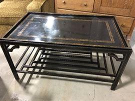 "Black metal coffee table 40""x2'x20"""