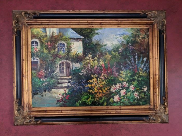 Beautifully framed Oil