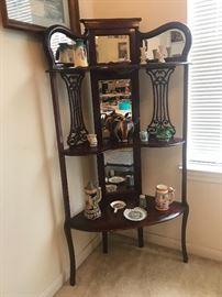 Antique display shelf