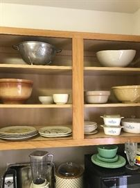 Jadite, pottery and Corning Ware