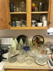 Light globes and glassware
