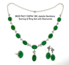LOT 9635 Jadeite Necklace Set