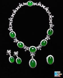 LOT 889 Jadeite NEcklace Set  GIA CERTIFIED