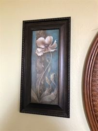 Coordinating floral prints in great frame