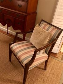 One of a fantastic pair of mahogany arm chairs...only $40 each or $75 for the pair!