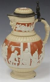 LOT #7012 - METTLACH GERMAN POTTERY MASTER BEER STEIN