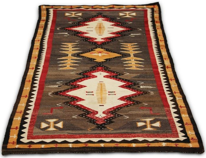 "LOT #7019 - NATIVE AMERICAN WOVEN BLANKET, 40"" X 78"""