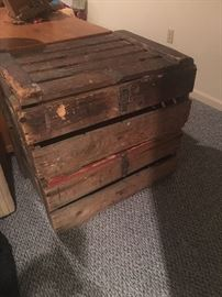 ANTIQUE CRATE/BOXES I think old beer crates