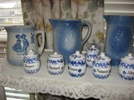 Milk pitchers and small German canisters