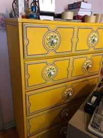 1970's Drexel Plus One Chest of Drawers w/ Daisy Pulls