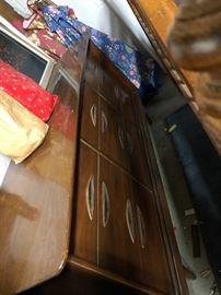 Mid Century Modern Danish Dresser w/ Hourglass Mirror