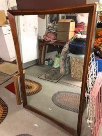 Hourglass Mirror for Danish Dresser
