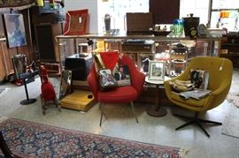 Misc collection furniture and bric-a-brac