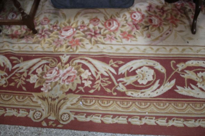 Hand Knotted Needle Point Rug 20 x30 feet
