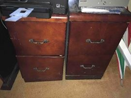 2 File cabinets