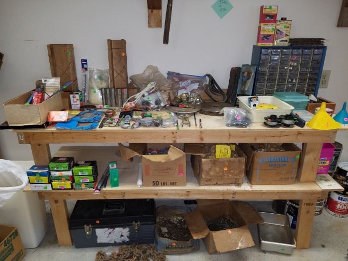 Tool chest, saw blades, and more...