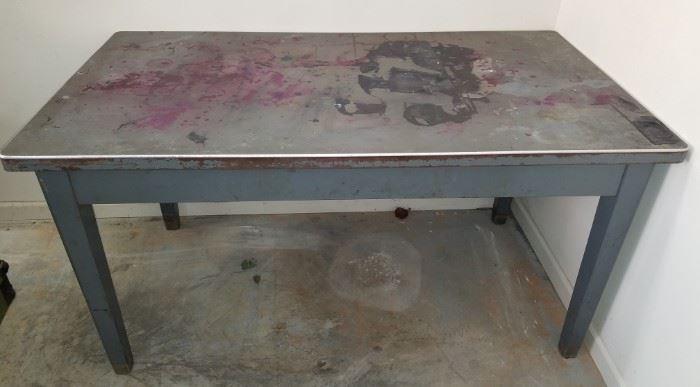 Vintage metal table