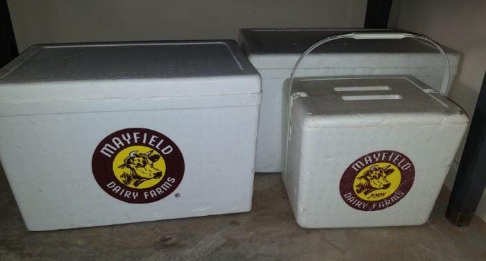 Mayfield styrofoam coolers