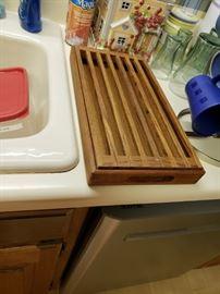 Teak drying rack.