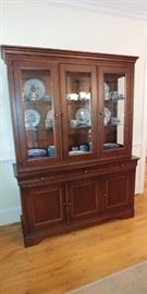 Dishes in china cabinet are not for sale