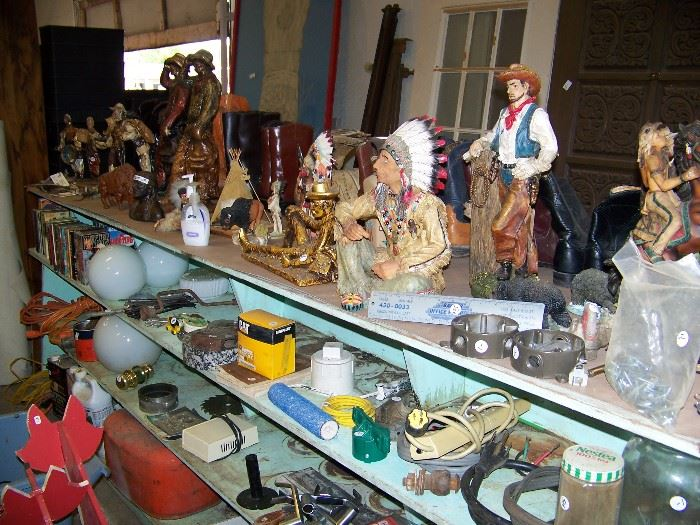 Many western statues plus miscellaneous