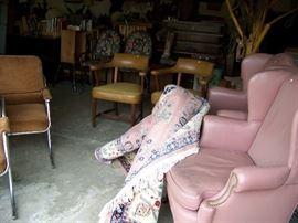 We have over twenty chairs.  Oriental rug.
