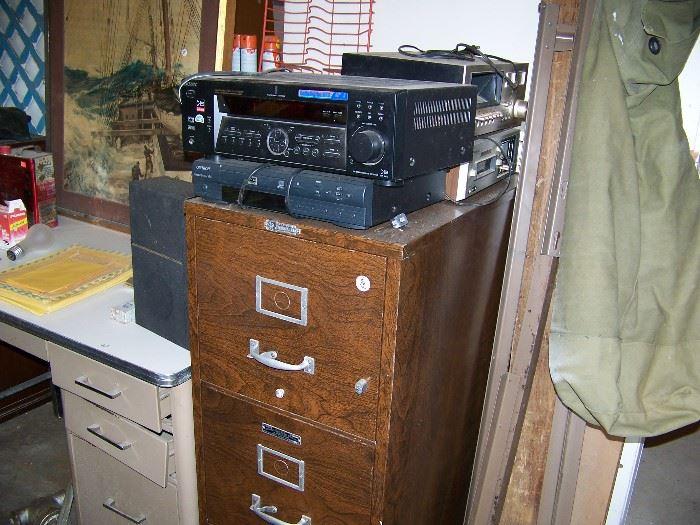 Fire proof safe, electronics.