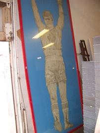 10' tall picture of Willie DeWitt.  Canadian champion.
