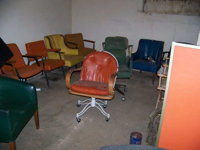 Chairs and more chairs.