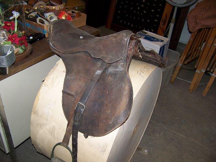 Old English saddle.