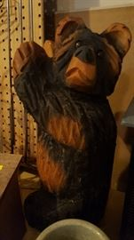 Hand-carved bear