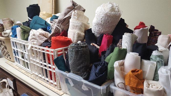 Unbelievable quantity of fabric