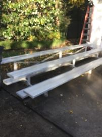 15 FOOT 3 LEVEL  ALUMINUM BLEACHERS