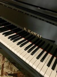 K. Kawai Grand Piano, GE-20.  Beautiful petite 5'1 frame in Black with bench