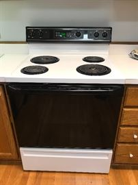 White electric stove