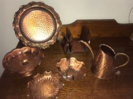Collection of Gregorian Copper pieces