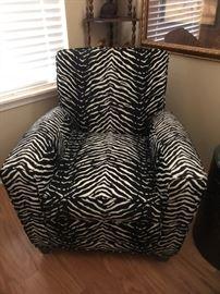 Ethan Allen zebra stripe chair