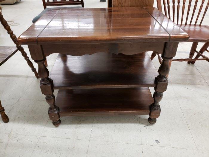 Vintage Ethan Allen distressed pine end table